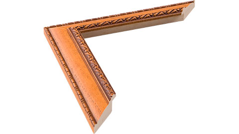 33mm Wide, Teak Wood Stain Frame (MLDA402)