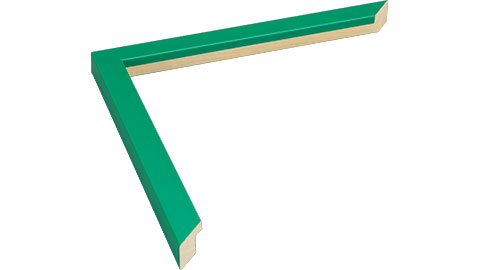 15mm Wide, Green Wood Paint Frame, 5x7