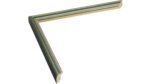 13mm Wide, Green Wood Stain Frame, 30x48