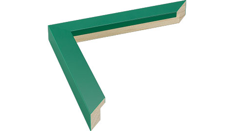 23mm Wide, Green Wood Paint Frame, 5x7