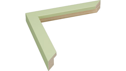 23mm Wide, Pale Green Wood Paint Frame, 5x7