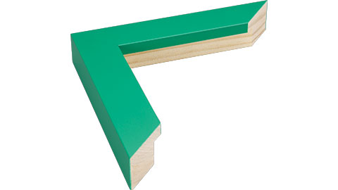 33mm Wide, Green Wood Paint Frame, 5x7