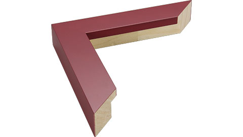 33mm Wide, Maroon Wood Paint Frame, 45x60cm (MLDA856)