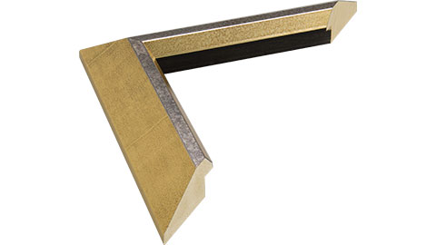 39mm Wide, Gold/Silver Wood Leaf Frame