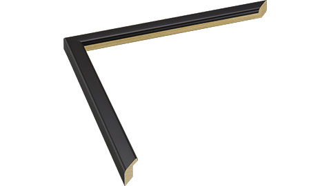 14mm Wide, Black Wood Paint Frame, 30x40