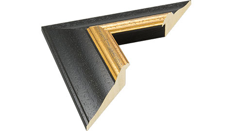 64mm Wide, Black Wood Stain Frame