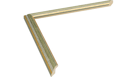 15mm Wide, Green/Gold Wood Stain Frame, 5x7