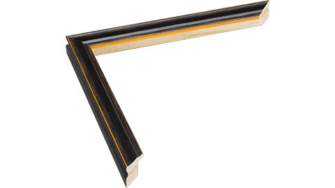 16mm Wide, Black/Orange Wood Paint Frame, 30x40