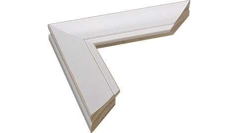 42mm Wide, White/Natural Wood Paint Frame, A0 (MLDA999)