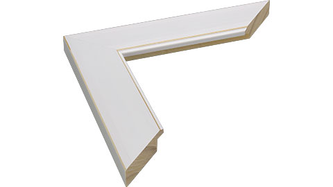 38mm Wide, White/Natural Wood Paint Frame, A0 (MLDA1003)