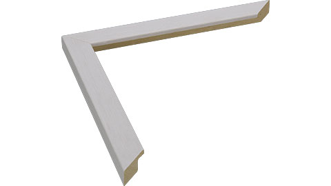 18mm Wide, White Wood Stain Frame, A0 (MLDA1031)