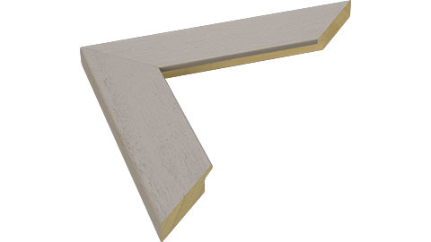 40mm Wide, Light Grey Wood Stain Frame, 50x50cm (MLDA1039)