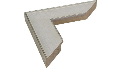 50mm Wide, White/Silver Wood Paint Frame, A0 (MLDA1047)