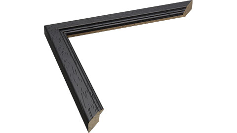 20mm Wide, Black Wood Stain Frame, 30x40