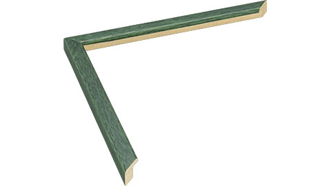 13mm Wide, Green Wood Stain Frame, 5x7