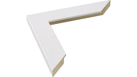 34mm Wide, White Wood Paint Frame, A0 (MLDA512)