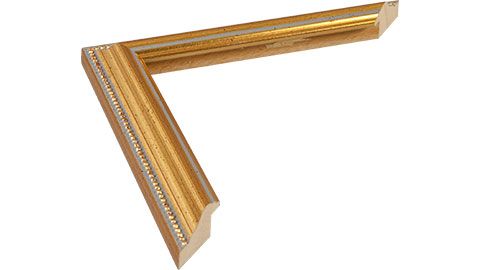 26mm Wide, Antique Gold Wood Leaf Frame
