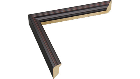 19mm Wide, Burgundy Wood Paint Frame, 30x40