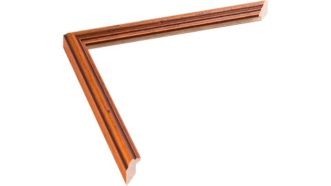 15mm Wide, Rich Teak/distresed Wood Stain Frame, A0 (MLDA286)