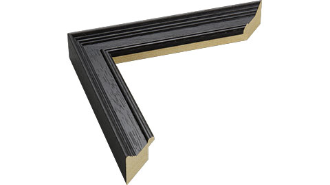 30mm Wide, Black Wood Stain Frame, 6x8