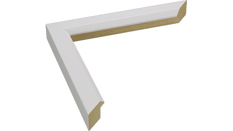 23mm Wide, White Wood Paint Frame, A0 (MLDA1301)