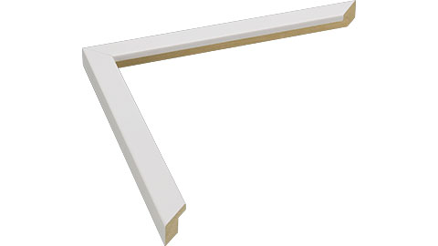 15mm Wide, White Wood Paint Frame, A0 (MLDA1302)