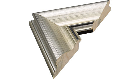 76mm Wide, Silver Wood Leaf Frame (MLDA1317)