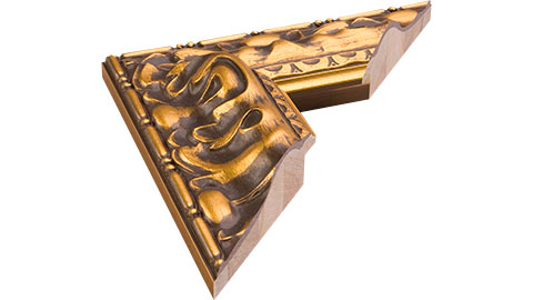 82mm Wide, Gold Wood Leaf Frame (MLDA519)