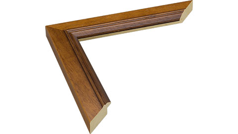 31mm Wide, Walnut Wood Stain Frame, 40x50cm (MLDA1333)