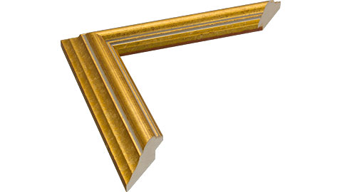 33mm Wide, Gold Wood Leaf Frame, 5x7