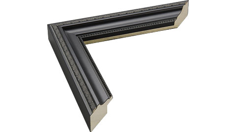 32mm Wide, Black Wood Paint Frame