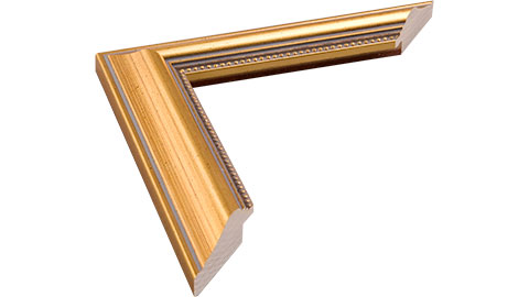 34mm Wide, Gold Wood Leaf Frame