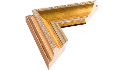 60mm Wide, Gold Wood Leaf Frame (MLDA460)