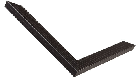 20mm Wide, Black Wood Stain Frame