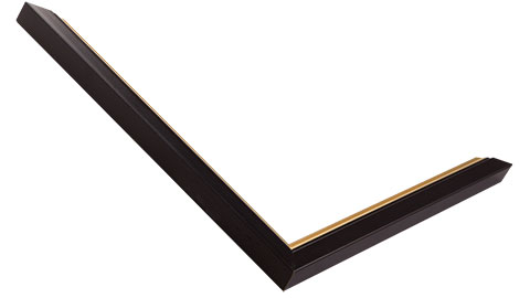 15mm Wide, Black (with Gold Inner Edge) Wood Paint Frame