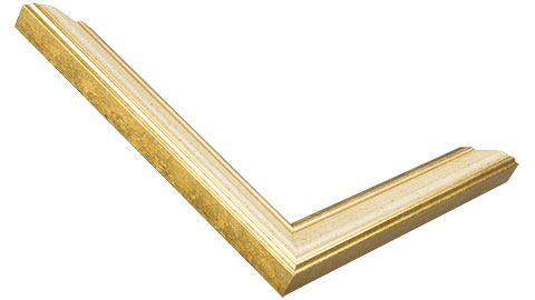 22mm Wide, Gold Wood Leaf Frame