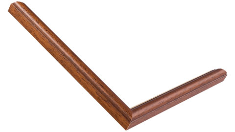 15mm Wide, Dark Walnut (With A Gold Inner Edge) Wood Stain Frame
