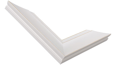 42mm Wide, White/Natural Wood Paint Frame