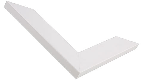 34mm Wide, White Wood Paint Frame