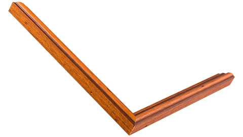 15mm Wide, Rich Teak/distresed Wood Stain Frame
