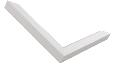 23mm Wide, White Wood Paint Frame