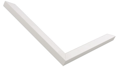 15mm Wide, White Wood Paint Frame