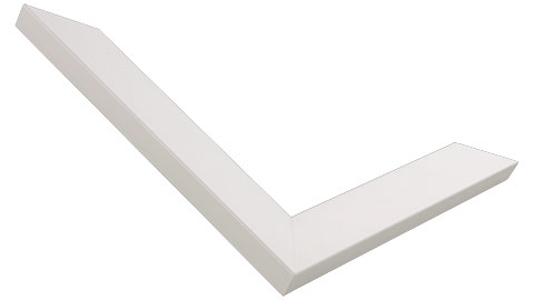 25mm Wide, White Wood Paint Frame