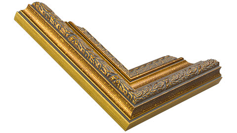 55mm Wide, Gold Wood Leaf Frame