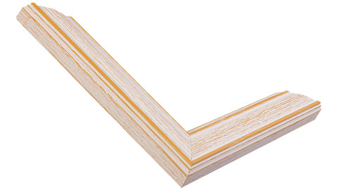 32mm Wide, Tan/Whitewash Wood Stain Frame