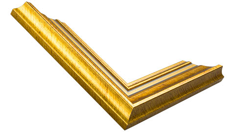 40mm Wide, Gold Wood Leaf Frame