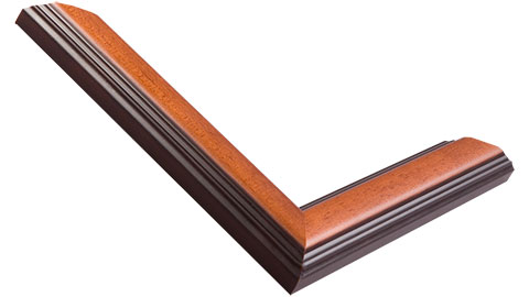 30mm Wide, Mahogany Wood Stain Frame