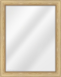 Framed Mirror made from a 34mm wide moulding, reverse shaped, and natural oak in colour.