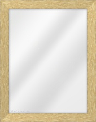 Framed Mirror made from a 33mm wide moulding, flat shaped, and natural oak in colour.