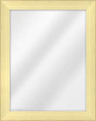 Framed Mirror made from a 38mm wide moulding, cushion shaped, and natural light pine in colour.